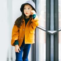 2018秋冬童装女童毛呢子大衣外套韩版时尚呢大衣百搭新款中大童