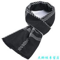 男士围巾 冬季格子英伦加厚围脖 冬天学生简约韩版潮百搭
