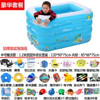 新生婴儿游泳池家用充气幼儿童宝宝洗澡桶加厚保温游泳戏水池浴盆