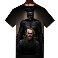 20180314191350769夏季短袖男体恤衣服蝙蝠侠小丑衣服蝙蝠侠小丑t恤男短袖个性男士T恤男女