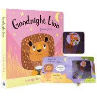【首页抢券300-100】Magic Torch Book Goodnight Lion 晚安狮子魔法手电筒儿童英语绘本