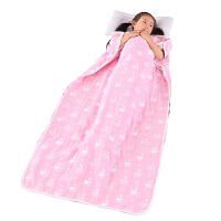 婴儿睡袋春秋儿童防踢被宝宝中大童薄棉六层纱布睡袋神器夏季四季