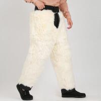 防寒加厚保暖羊皮裤子中老年羊毛皮裤冬季男女羊毛棉裤