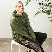 VIISHOW新款卫衣2018春季情侣套装 套头连帽男士潮流嘻哈外套韩版