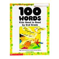 英文原版100 Words Kids Need to Read by 2nd Grade 二年级 一百个词汇Schol