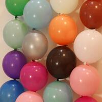 结婚庆用品创意装饰布置10寸尾巴球针尾气球韩国连接球派对气球