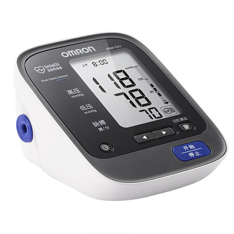 欧姆龙(OMRON)电子血压计 HEM-7211日本原装进口血压计,智能加压!