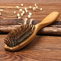 头部护发头皮按摩梳子 头梳静电气囊气垫梳子大板绿檀木梳 经典款