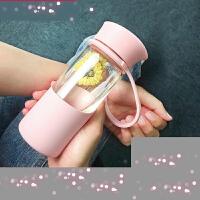 【支持万博客户端最新版卡】玻璃杯子便携随手杯创意潮流男女学生韩版过滤茶杯泡茶小水杯x8h