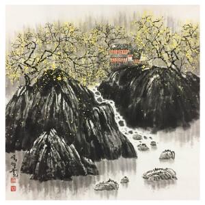赵准旺《川流不息》著名画家