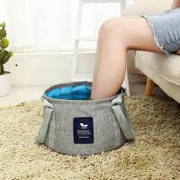 旅行泡脚袋折叠水盆便携式洗脸洗脚盆大号多功能户外旅游洗衣水桶