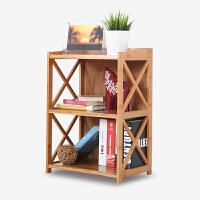 美达斯 书架 楠竹简易落地置物架书柜展示架储物收纳柜新品热卖原木色