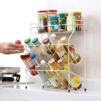铁艺多层调料架厨房用品置物架 台面落地调味料架子收纳架