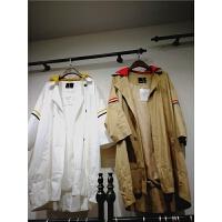 S4春韩国宽松长袖可脱卸卫衣帽风衣女气质百搭中长款外套上衣0.85