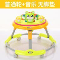 婴幼宝宝学步车6/7-18个月多功能防侧翻手推可坐可折叠带音乐