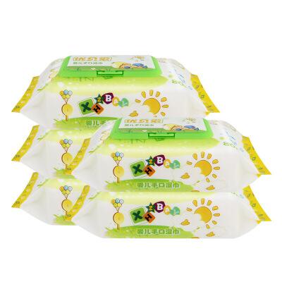 优贝爱一份5包80片婴儿湿巾宝宝手口通用湿纸巾80抽婴儿湿巾纸