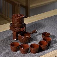 功夫茶具家用石磨创意陶瓷茶壶功夫茶杯半全自动懒人泡茶器送父亲送朋友