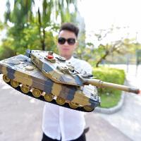 儿童越野车电动充电玩具汽车男孩2.4G遥控坦克对战可发射履带式