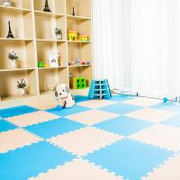 地垫儿童游戏爬行垫 泡沫拼接垫子爬爬垫50*1.2cm 米色+ 50*50*1.2cm4片/包