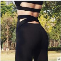 显瘦美腿小脚打底长裤速干健身裤高腰瑜伽裤女弹力紧身薄款运动裤跑步训练