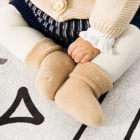 秋冬新款毛圈加厚宝宝袜子有机彩棉新生儿纯棉0-1岁婴儿袜子三双