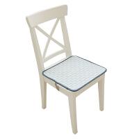 地中海蓝色连体椅垫坐垫办公室电脑椅椅子坐垫背靠靠垫一体餐椅垫 蓝色海洋椅垫