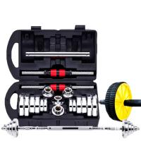 亚玲 钢制哑铃 纯钢哑铃 男士健身器材 家用钢制哑铃练臂肌20kg30公斤15电镀套装HW 1
