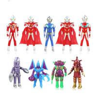 奥特曼披风百变超人儿童超人模型配怪兽百变怪男孩对决玩具九只装