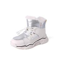 女童雪地靴冬季新款宝宝冬鞋加绒儿童雪地棉鞋男童靴子