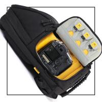 户外摄影包双肩摄像机相机背包快取 适合佳能单反 酷黑色