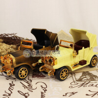 复古老爷车音乐盒 创意怀旧八音盒 节日礼物婚庆摆件