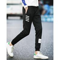 秋冬季运动跑步长裤男拉绒休闲收束口青少年学生男版加绒加厚卫裤