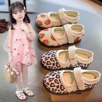 女童皮鞋����小女孩公主鞋子�涡��和�豆豆鞋