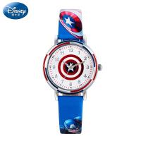 美国队长盾牌儿童手表男孩迪士尼电子石英表英雄男童防水学生手表