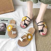 户外两穿女士凉鞋时尚百搭沙滩鞋子平底防滑套趾拖鞋外穿