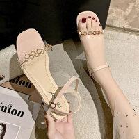 气质百搭女鞋户外时尚单鞋女士凉鞋休闲舒适中跟鞋
