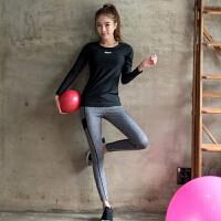 春秋健身房速干衣运动跑步服女士瑜伽服修身长袖健身服女套装