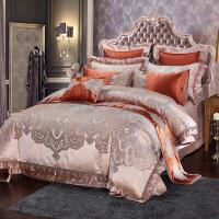家�床上四件套全棉�e墅床品�W式��多件套十件套床上用品