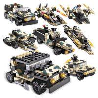积高拼装军事坦克积木模型玩具男孩六一儿童益智拼插3-6-10岁礼物