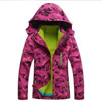 秋冬季户外冲锋衣男女三合一两件套加厚迷彩登山服保暖外套潮