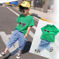童装男童夏装套装2018新款潮中小儿童夏季3岁宝宝6韩版短袖两件套