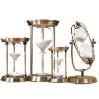 时间沙漏计时器30/60分钟欧式客厅装饰沙漏创意金属摆件生日礼物