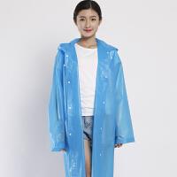 超大雨衣电动车单人一次性子母子雨披特大号加大码两侧加长 超厚EVA蓝色 鞋套 均码