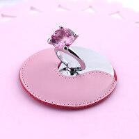 小镜子随身化妆镜女便携迷你公主镜桌面折叠定制创意抖音同款钻戒