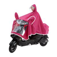 摩托车雨衣电动车的雨披女装1单人夜光加大加厚可拆卸双帽檐