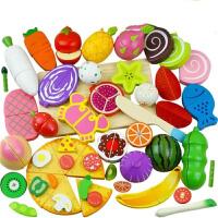 【支持礼品卡】水果切切乐儿童木制磁性切切看蔬菜过家家厨房 切水果玩具j5o