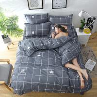 床单三件套床上用品学生宿舍单人1.2纯棉全棉被套四件套1.5米1.8m