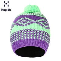 Haglofs火柴棍户外休闲中性含羊毛混纺编织保暖帽602189
