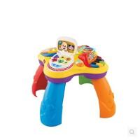 费雪小狗皮皮学习桌多功能双语音乐游戏桌BJV34宝宝婴儿益智玩具