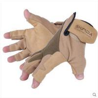 半指手套透气舒适短指手套攀岩耐磨防滑战术牛皮手套速降半指手套男女救援手套